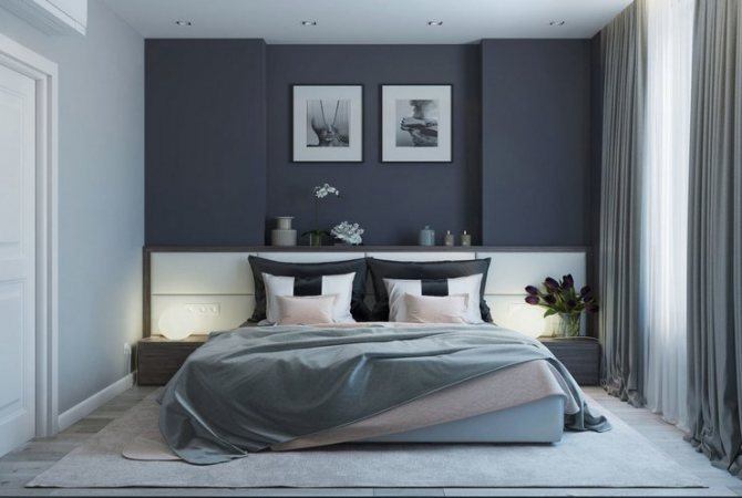 Подбор цветов для интерьера спальни