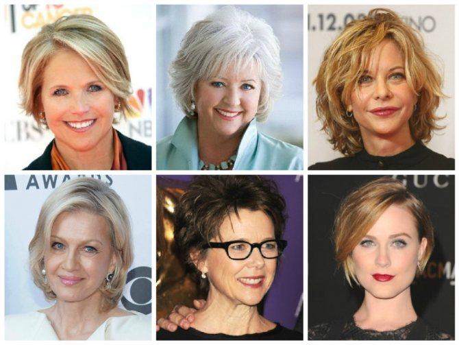 Подборка 50-летних знаменитых женщин с удачными стрижками
