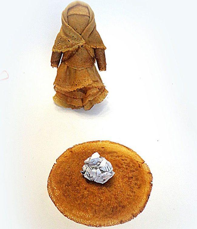 Поделки из блинов на Масленицу своими руками: чучело, кукла, различные фигурки и украшения для масленичного стола