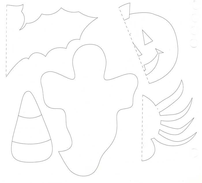 Поделки из бумаги на хэллоуин: тыква, конфета, летучая мышь, паук, привидение