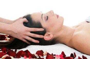 подготовка к массажу головы
