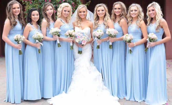 Прически подружек невесты 61 фото