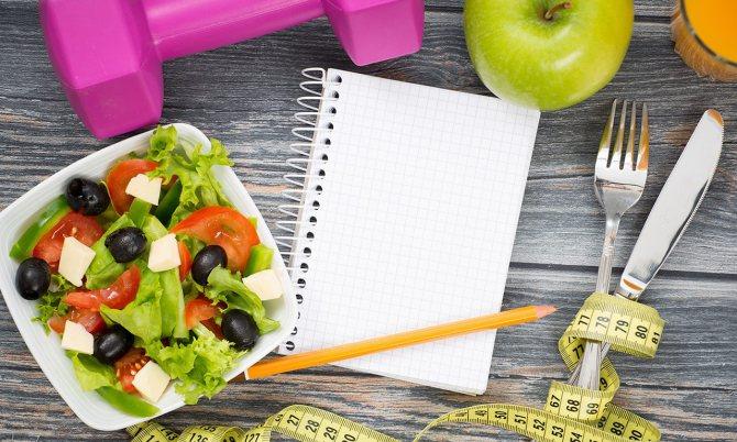 Подсчет калорий в продуктах и силовые нагрузки