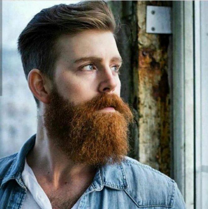 покрасить бороду в рыжий