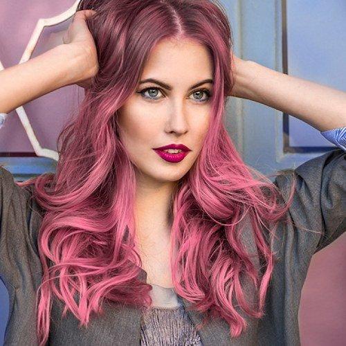 покрасить в два цвета волосы