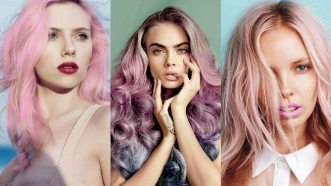 Покрасить волосы в розовый цвет