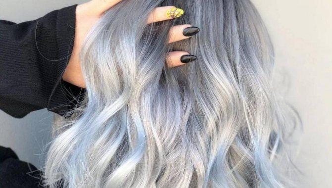 покраска волос двумя цветами волос фото