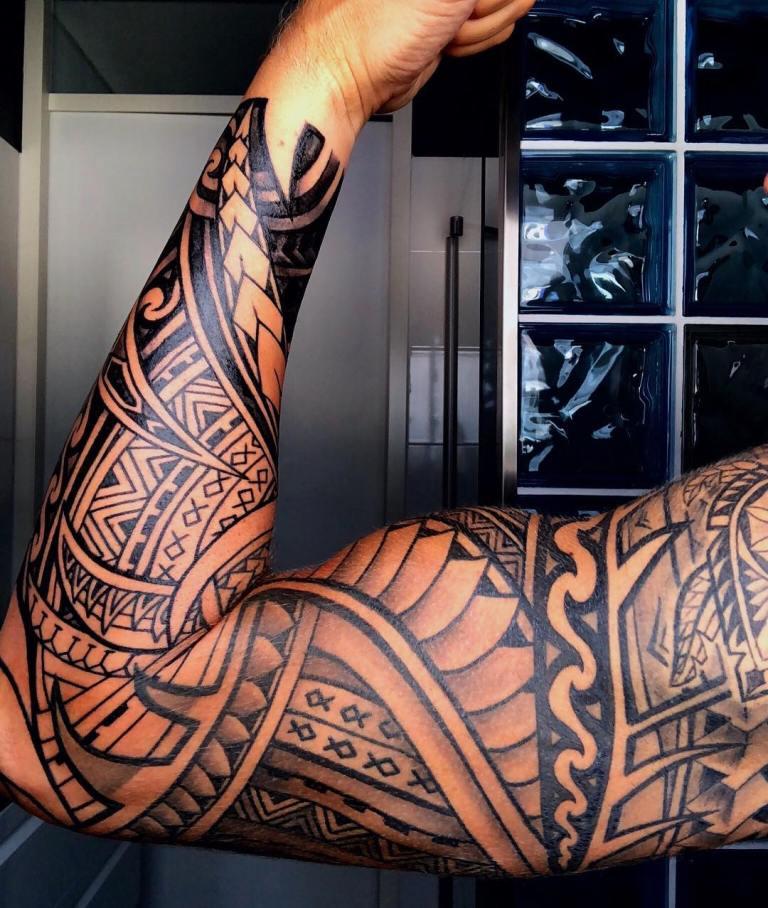 полинезия тату эскизы рукав