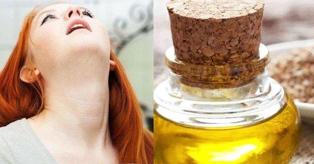 полоскание горла подсолнечным маслом