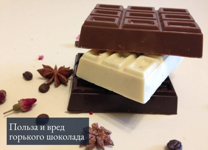 польза и вред горького шоколада