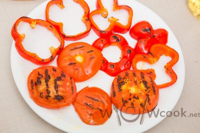 помидоры гриль