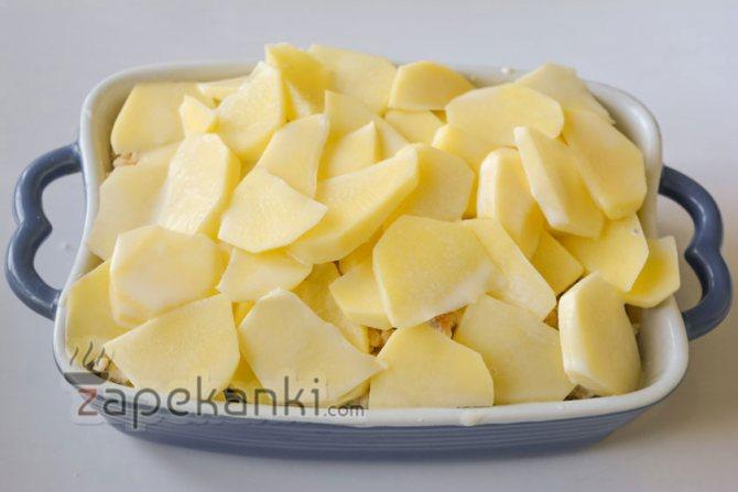 последний слой картофеля