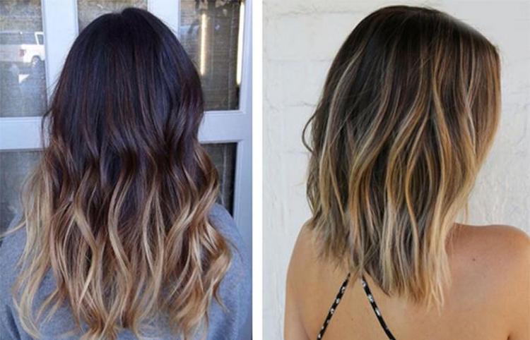 Посмотрите фото окрешивания волос омбре на средние волосы.