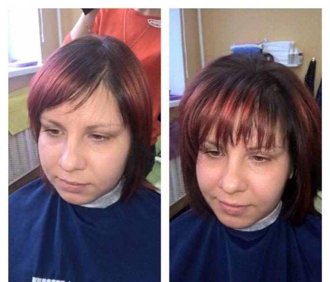 она начала флисинг для волос технология реальное фото серого цвета