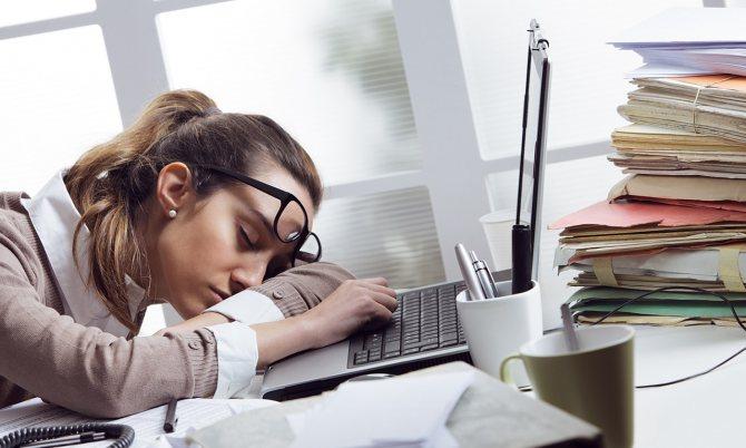 Постоянная усталость из-за недостатка витаминов