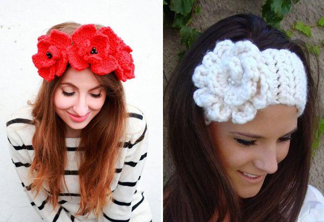 повязка цветы для волос