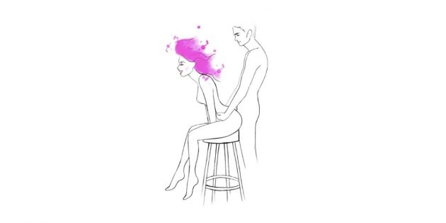 Позы для анального секса: высокий стул