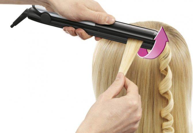 Правила накручивания волос утюжком