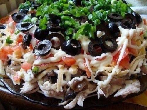 Праздничные салаты с куриным Филе: топ - 10 рецептов. 06