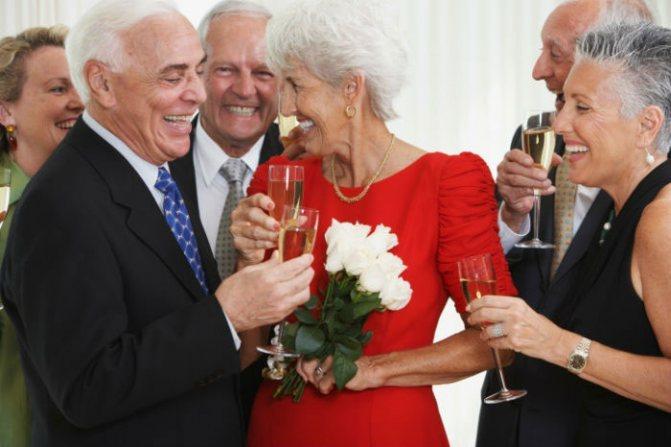 Празднование сороковой годовщины брака