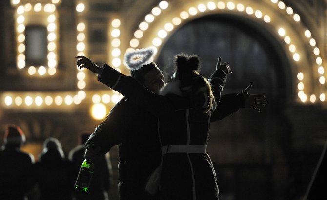 Празднование Старого Нового года на Красной площади в Москве