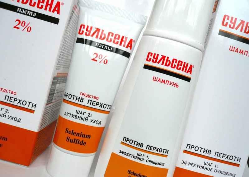 Препараты (паста для волос, шампунь, шампунь-пилинг) «Сульсена»