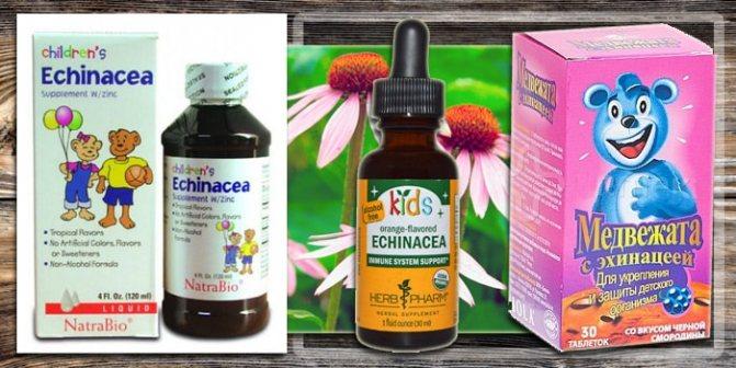 Препараты с эхиноцеей для детей