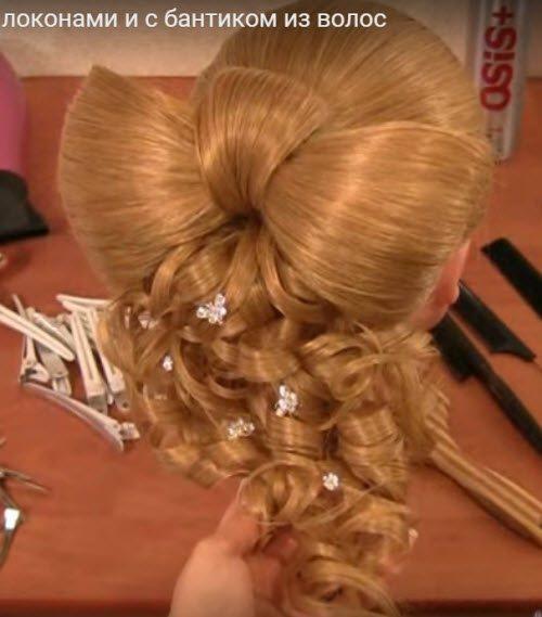 Прическа бант из волос с фото и обучающим пошаговым видео