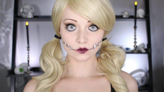 прическа на Хеллоуин