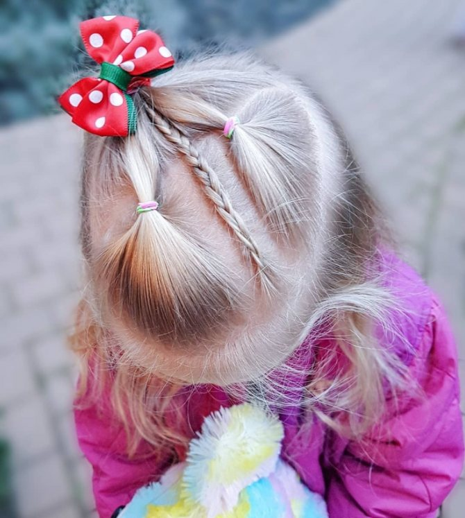 Прическа на праздник осени в детском саду