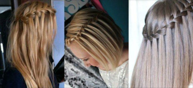 Прическа водопад для прямых волос