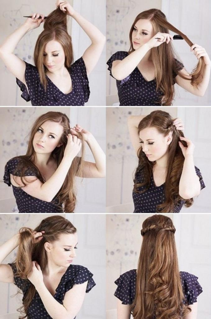 прически на распущенные волосы