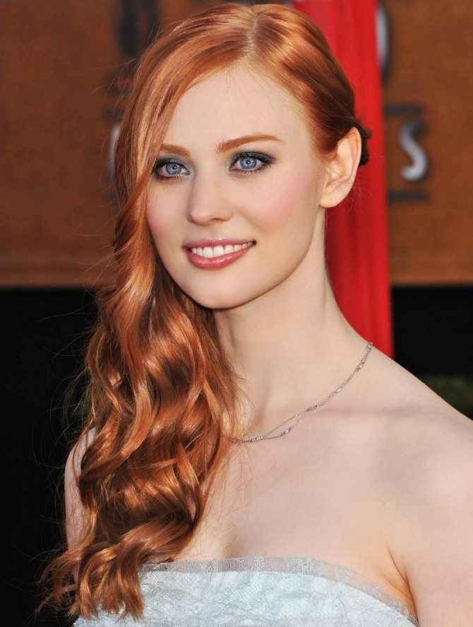 прически на рыжий кудрявый волос фото
