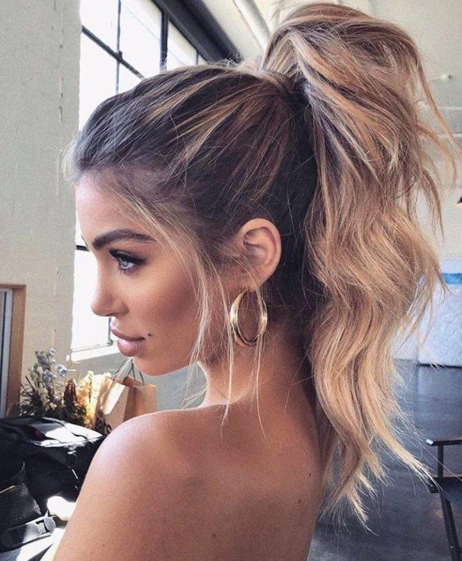 причёски с хвостом фото 8