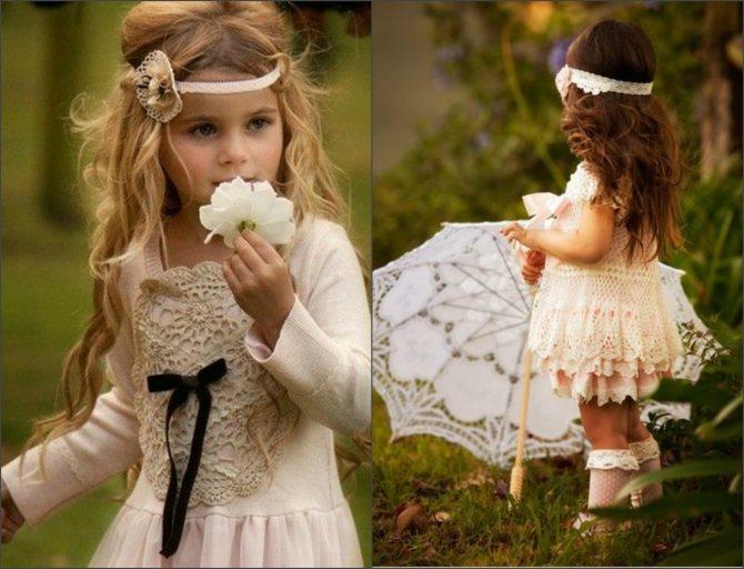 Прически с ободком для девочек