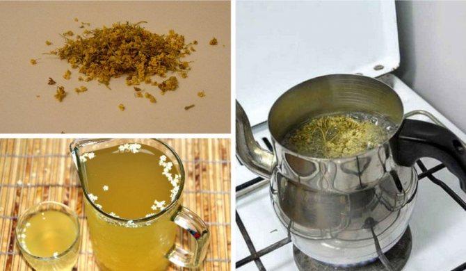 Приготовление чая из бузины