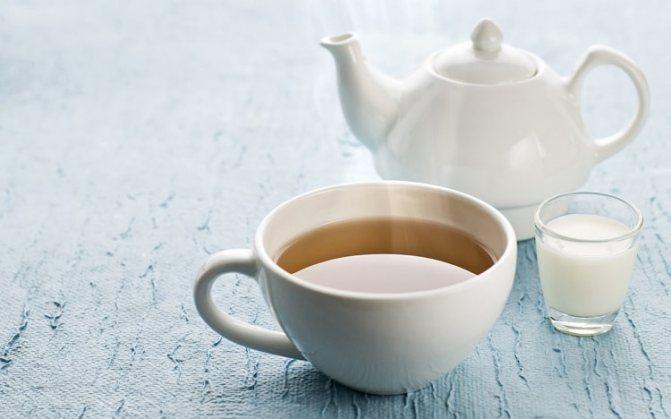 Приготовление чая с молоком