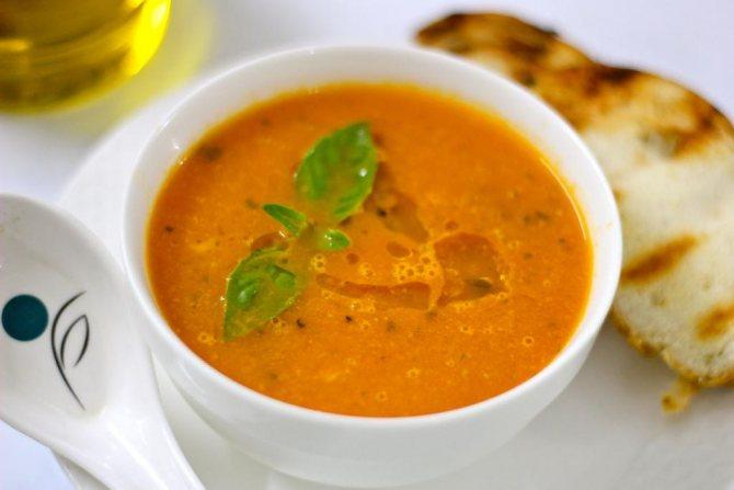 приготовление овощного супа-пюре