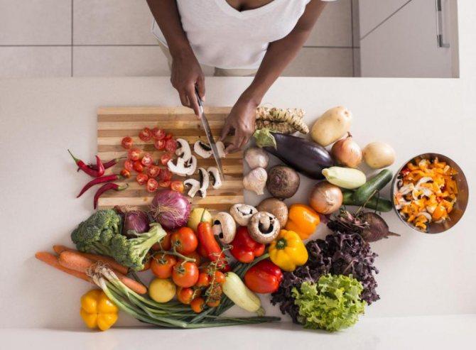 Приготовление полезное еды