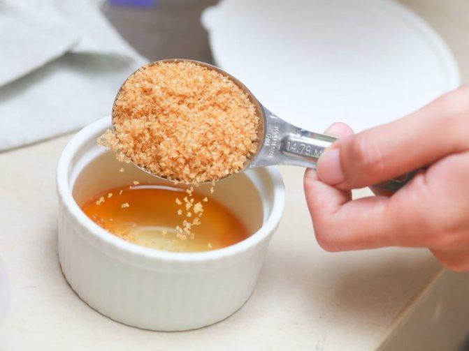 Приготовление желатиновой маски с мёдом