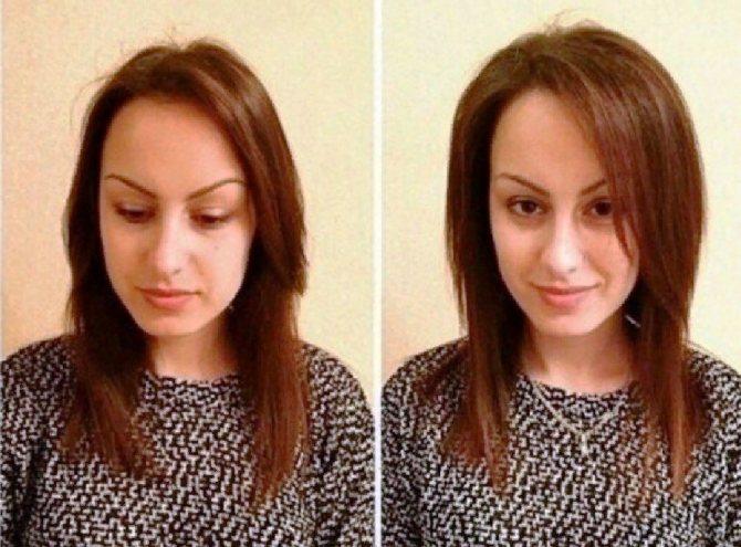 Прикорневая химическая завивка фото до и после