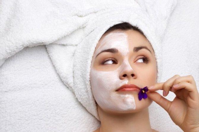 применение косметических масок для лица