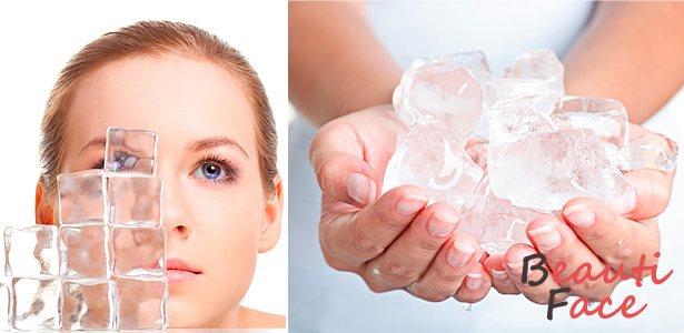 Применение косметического льда для лица
