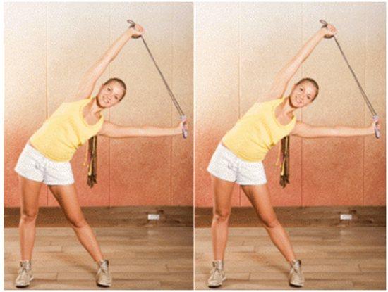 Пример упражнения стоя
