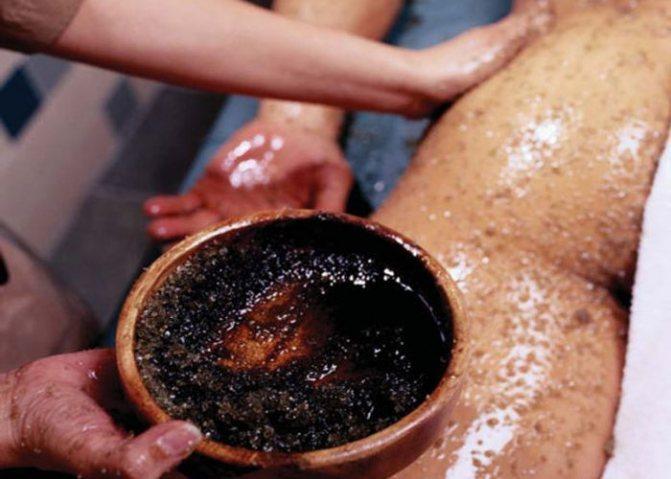 Процедура кофейного скраба для тела