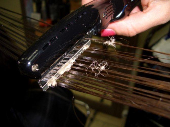 Процедура термообработки прядей