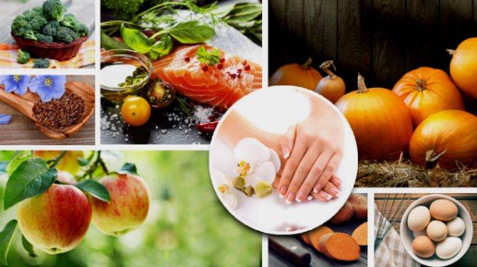 Продукты для здоровых ногтей