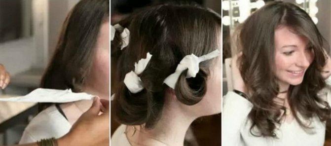 простой способ, как накрутить волосы на бигуди папильотки.