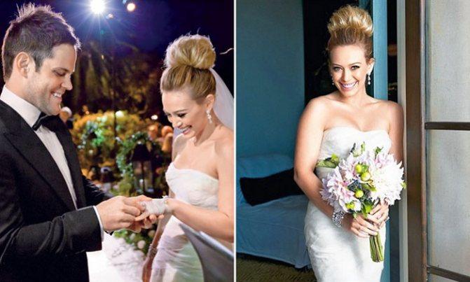 Простота свадебной прически Хилари Дафф
