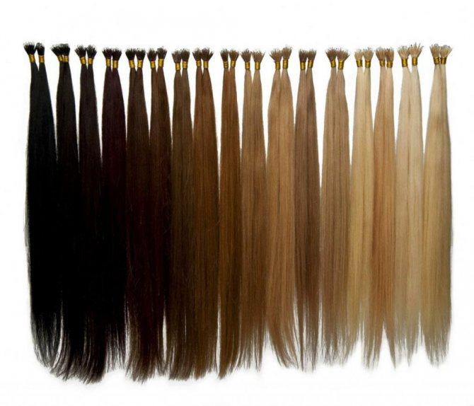 Пряди нарощенных волос